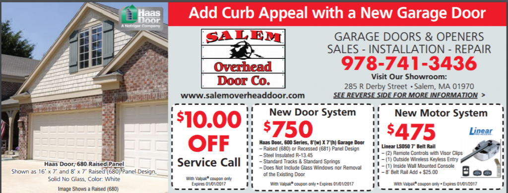 Garage door installation repair replacement blog salem for Garage appeal coupon code